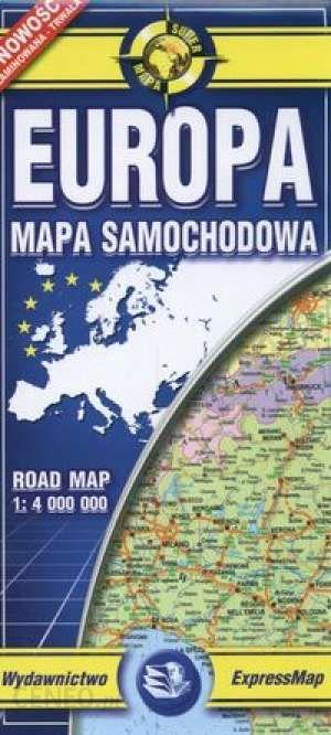 Europa Laminowana Mapa Samochodowa 1 4 000 000 Ceny I Opinie