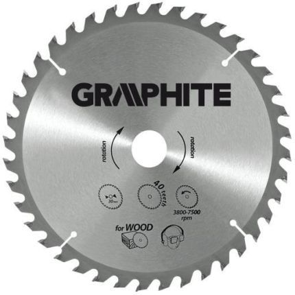 GRAPHITE Tarcza do pilarki 165mm 24 zęby (57H650)