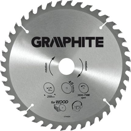 GRAPHITE Tarcza do pilarki 160mm 24 zęby (57H658)