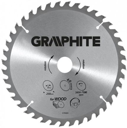 GRAPHITE Tarcza do pilarki 190mm 24 zęby (57H668)