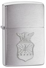 Zippo Air Force Crest Emblem Brushed Chrome Z280Afc