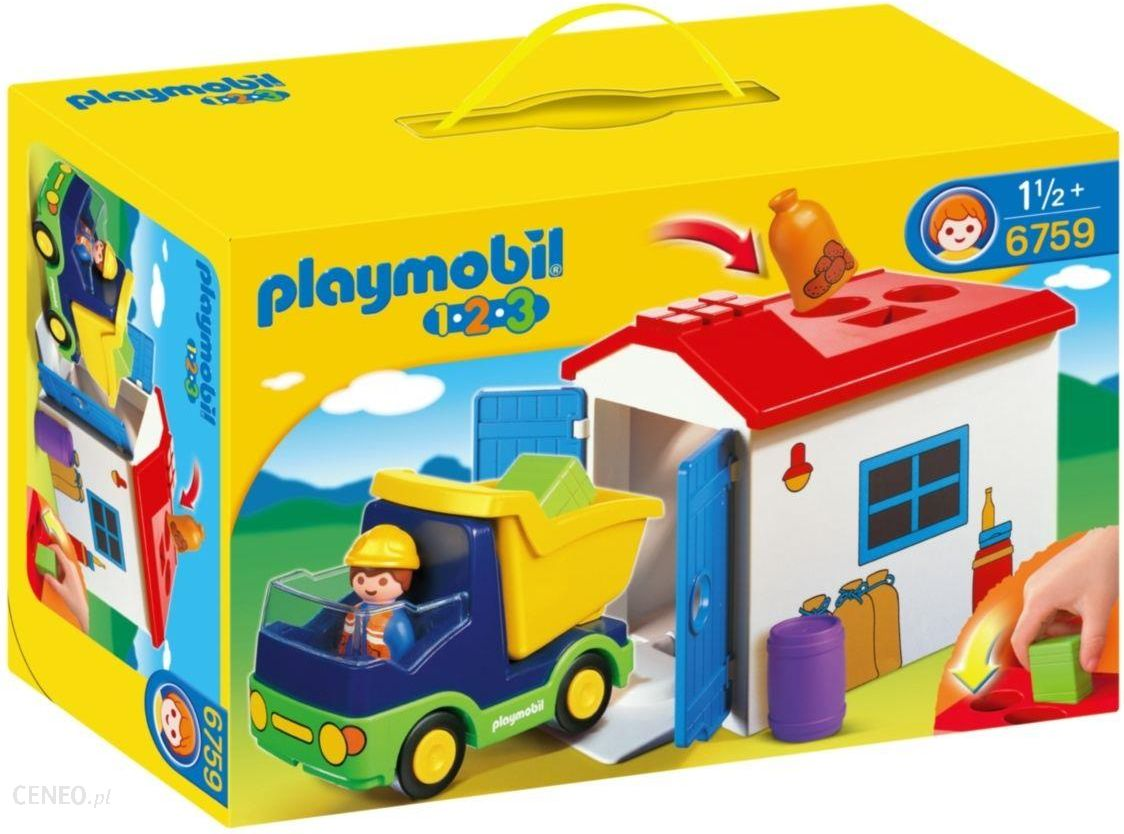 klocki playmobil ci ar wka z gara em 1 2 3 6759 ceny i opinie. Black Bedroom Furniture Sets. Home Design Ideas