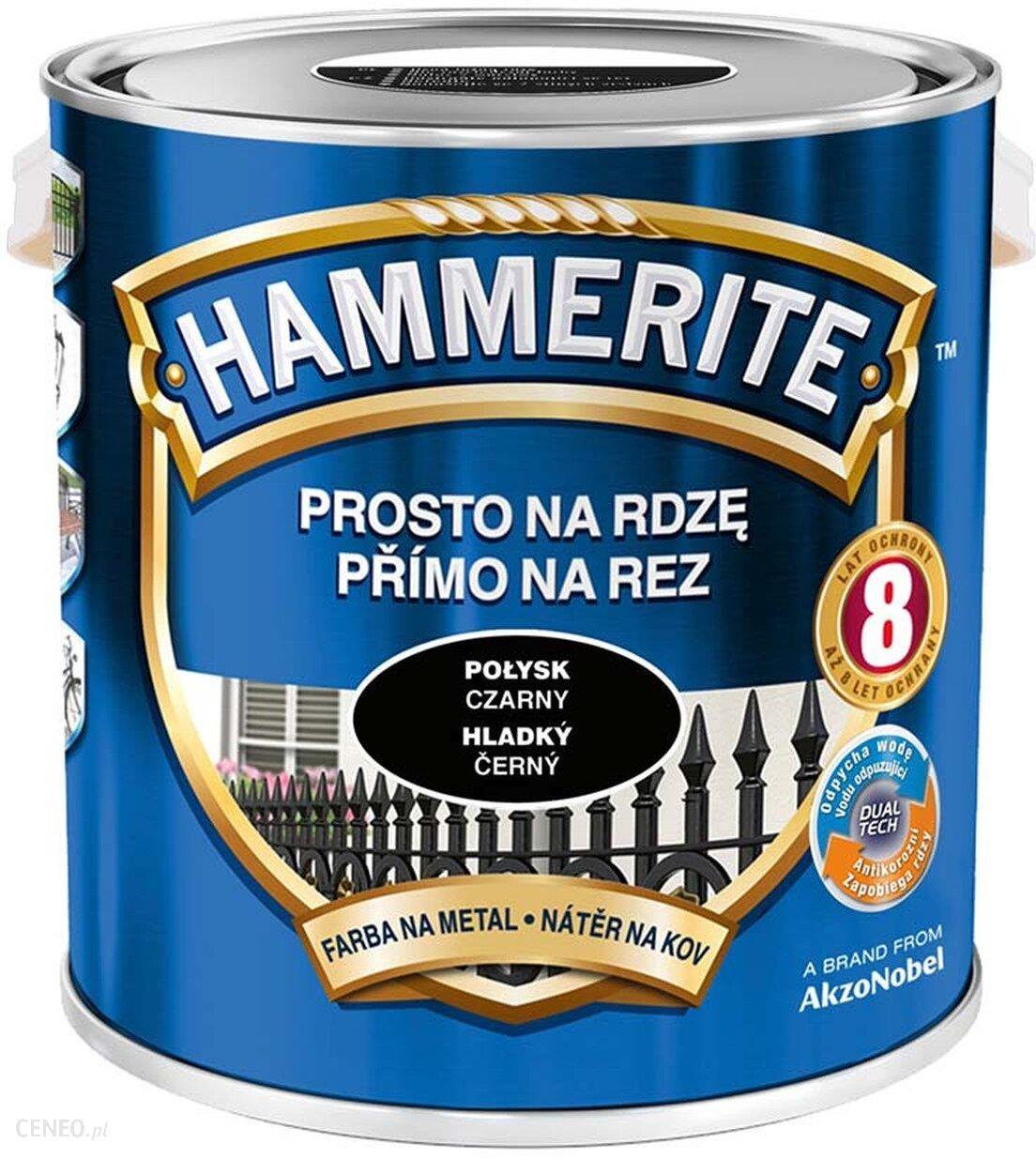 Hammerite Prosto na Rdzę Połysk Czarny 2,5L
