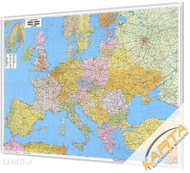Mapa Scienna Mapa Magnetyczna Europy Polityczno Drogowa 1 3 5 Mln