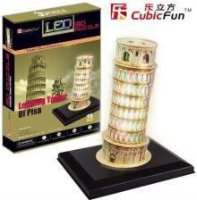 Cubic Fun Krzywa Wieża Piza Światło 3D Puzzle L502H