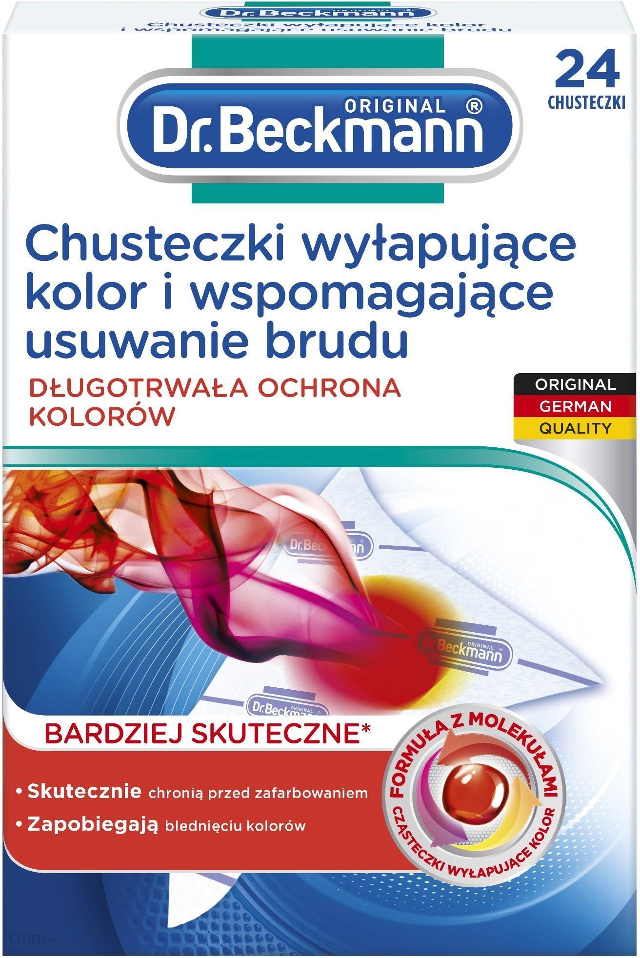Dr Beckmann Chusteczki Wylapujace Kolor I Wspomagajace Usuwanie Brudu 24 Szt Opinie I Atrakcyjne Ceny Na Ceneo Pl