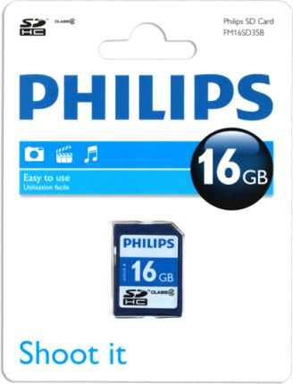 PHILIPS SD HC klasa4 16GB (FM16SD35B)