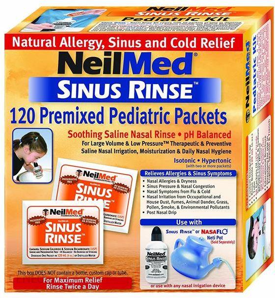 Sinus Rinse Pediatric Kit Zestaw Uzupelniajacy 120 Saszetek Opinie I Ceny Na Ceneo Pl