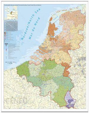 Mapa Scienna Benelux Belgia Holandia Luksemburg Mapa Scienna Kody