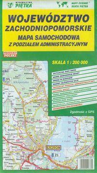 Wojewodztwo Zachodniopomorskie Mapa Samochodowa 1 200 000 Ceny I