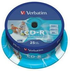 Verbatim CD-R 700MB 52x Cake 25szt Do nadruku