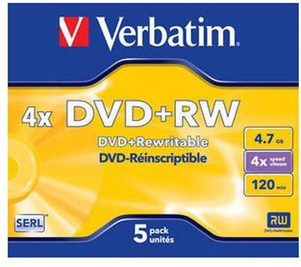 Verbatim DVD-RW 4.7GB 4x Jewel Case 5szt