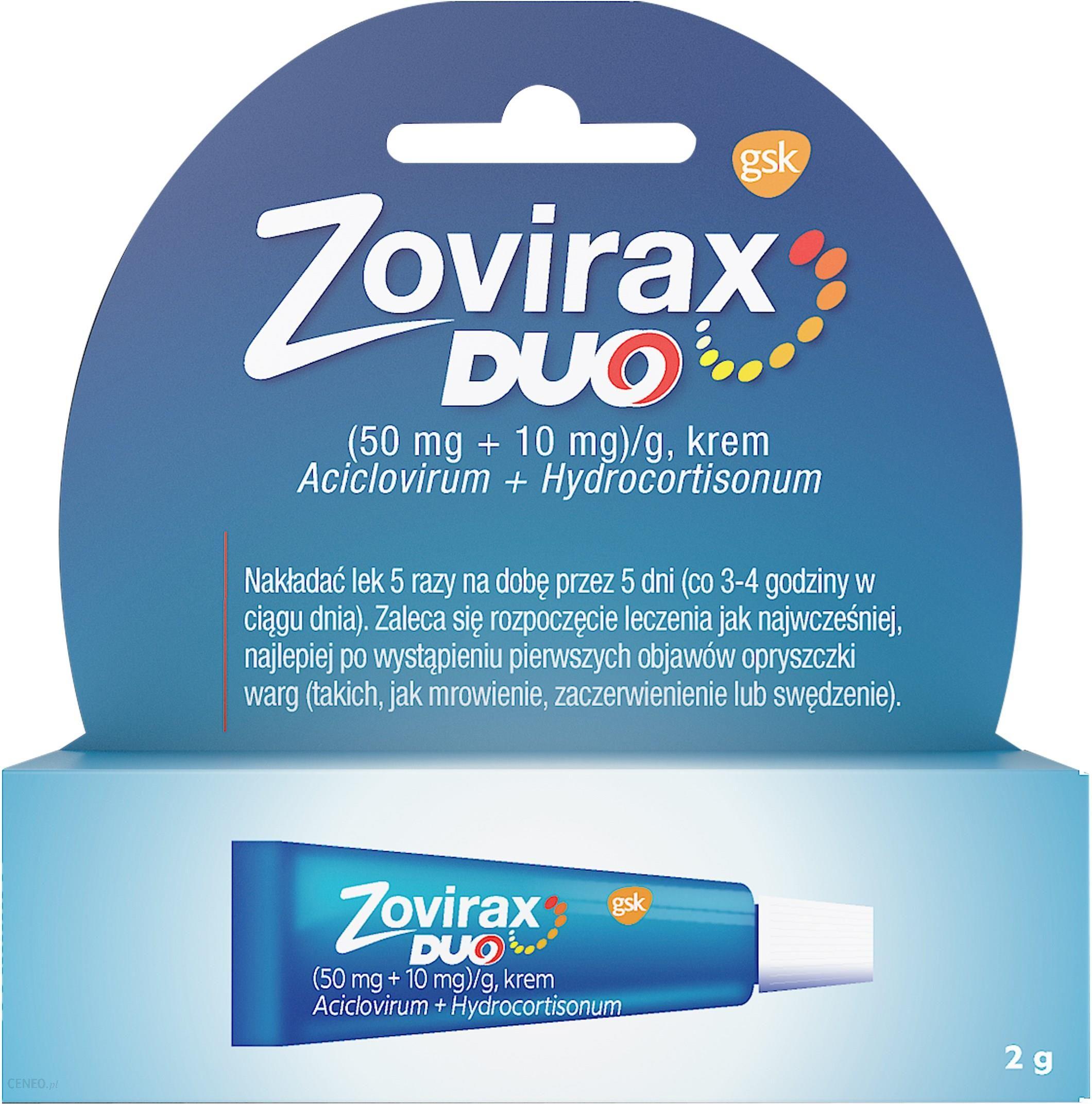 Zovirax Duo opryszczka na ustach leczenie