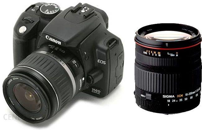 Lustrzanka Canon Eos 350d Czarny 18 55mm Ceny I Opinie Na Ceneo Pl