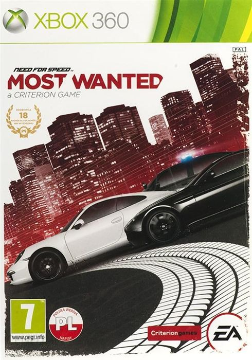 Need For Speed Most Wanted Gra Xbox 360 Ceneo Pl