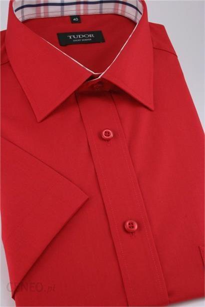 TUDOR koszula Slim Fit KSKWTDRSL0007czerw Odcienie czerwieni