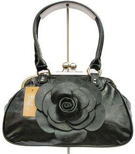 7bbdd61f2c07d Shung Feng Torebka czarna lakier z kwiatem - Ceny i opinie - Ceneo.pl