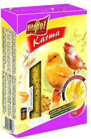VITAPOL Karma jajeczna dla kanarka, wybarwiająca żółta 350g