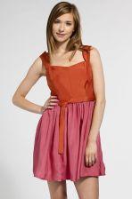f06b899df7 Sukienka yoshe 4980-SUD199 Sukienki plisowane Odcienie czerwieni  Wielokolorowy