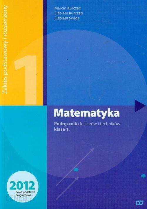 matematyka podręcznik do liceum i technikum zakres podstawowy