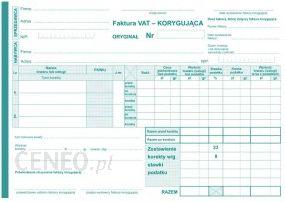 Lemi Druk Faktura Vat Korygująca Netto A5 11 Dr052 Ceny I