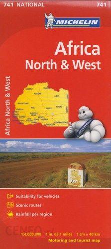 Afryka Polnocna I Zachodnia Mapa 1 4 000 000 Michelin Ceny I