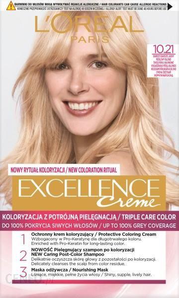 L'Oreal Paris Excellence Creme Farba Do Włosów 10.21 Bardzo Bardzo Jasny Perłowy Blond