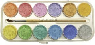 Perliniai akvarelės dažai 12 spalvų, 30ml