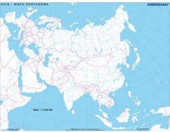 Mapa Scienna Meridian Azja Mapa Konturowa Ceny I Opinie Ceneo Pl