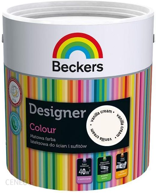 """Tikkurila Beckers"" dizainerio spalva ""Vanil Cre 5L"" (8428104205)"