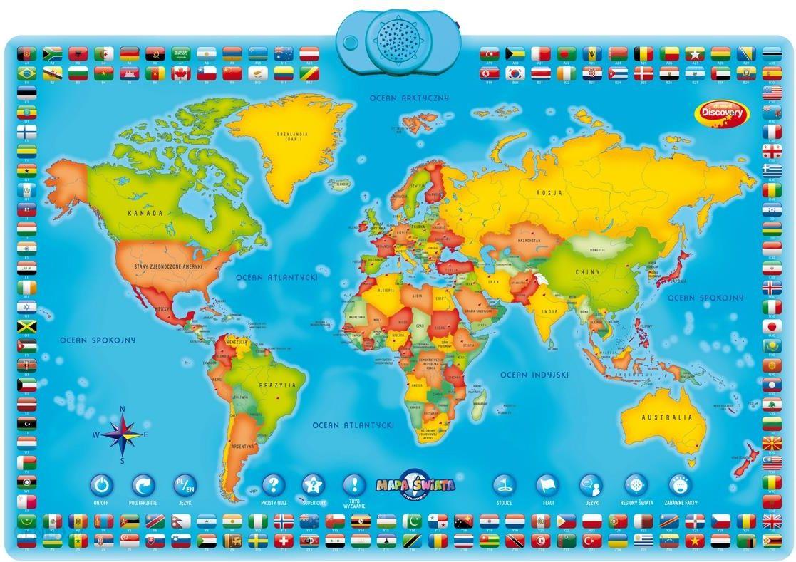 Chwalebne Dumel Discovery Interaktywna Mapa Świata 60853 - Ceny i opinie WU58