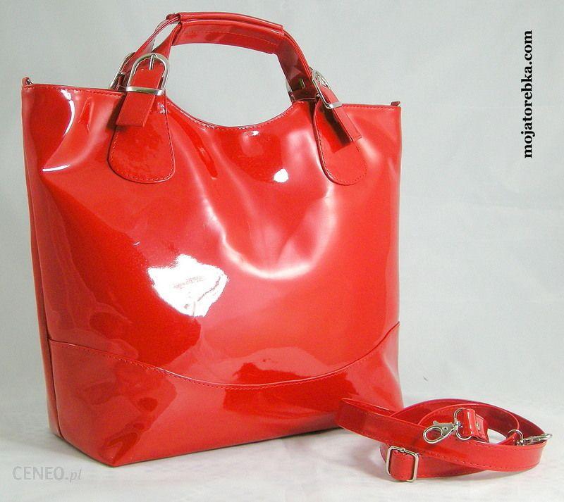1c16457a9b091 T  M Torebka ANGELA shopper czerwony lakier - Ceny i opinie - Ceneo.pl