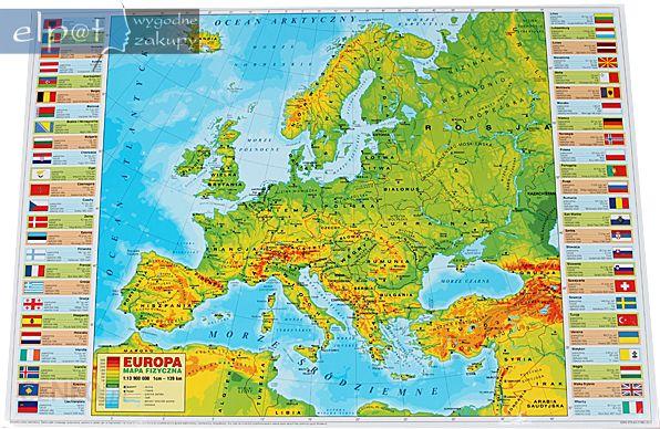 Podkladka Mapa Europy Fizyczna Derform Ceny I Opinie Ceneo Pl