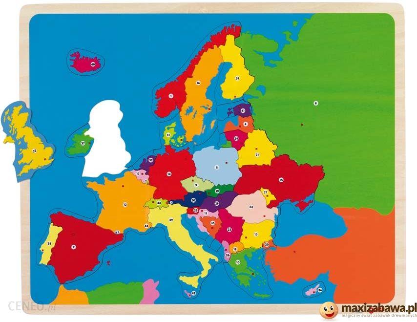 Goki Mapa Europy Panstwa I Stolice W Jezykach Obcych 57787 Ceny