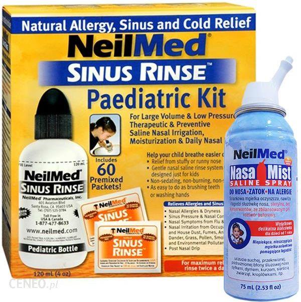 Sinus Rinse Pediatric Kit Zestaw Dla Dzieci Z Butelka 120ml I 60 Sasz Opinie I Ceny Na Ceneo Pl