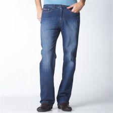 69c7803c TAILLISSIME Proste jeansy z 5 kieszeniami gumka w pasie (GT942) SUROWY  SZCZOTKOWANY - Ceny i opinie - Ceneo.pl