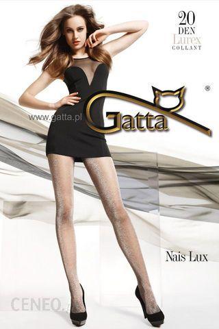 2355b9b55ad378 Gatta Nais Lux - Nero Silver - ciemne rajstopy z metalicznym połyskiem -  zdjęcie 1
