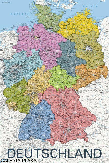 Mapa Niemiec Plakat