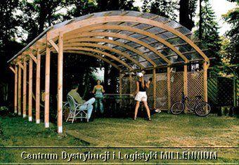 Cdil Millennium Garaż Ogrodowy Drewniany Na 2 Auta Wiata Ogrodowa
