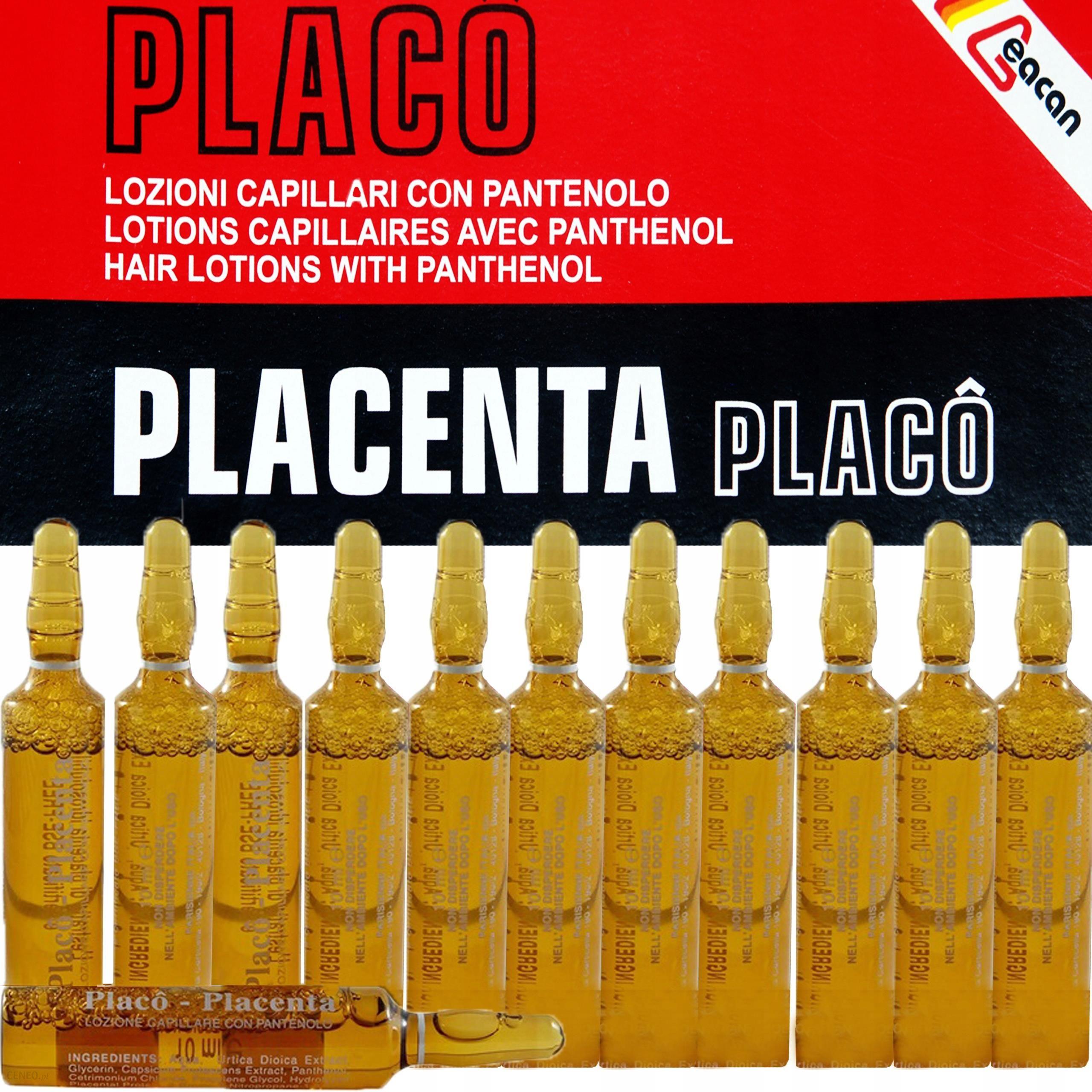 placenta na wypadanie włosów opinie