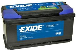 EXIDE EXCELL EB852 - 85Ah 760A P+
