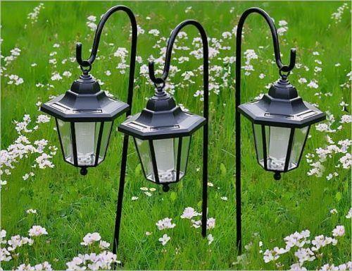 Lampa Solarna Latarnia Ogrodowa Kpl 3 Szt Oświetlenie Solarne Do Ogrodu