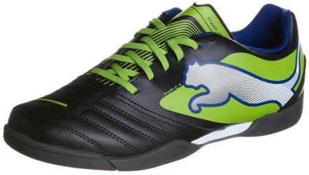 Buty piłkarskie Puma One 19.4 It M 105496 01 czarno niebieskie czarne czarny, niebieski