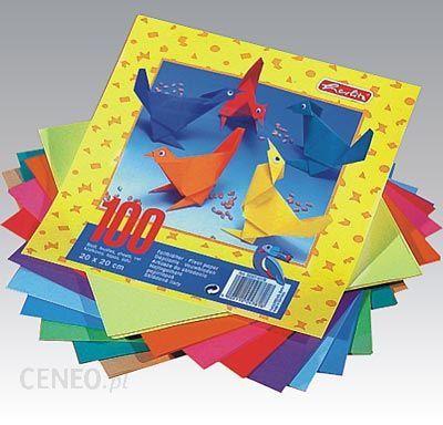 herlitz papier origami 20 20cm 100 arkuszy 10 kolorow ceny i opinie. Black Bedroom Furniture Sets. Home Design Ideas
