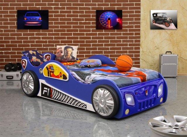 meble dla dzieci swarzędzkie meble Łóżko auto wyscigówka f1 115x205cm - swarzędzkie meble