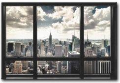 New York Widok Z Okna Wiezowce Plakat 140x100 Cm Cm Opinie I Atrakcyjne Ceny Na Ceneo Pl