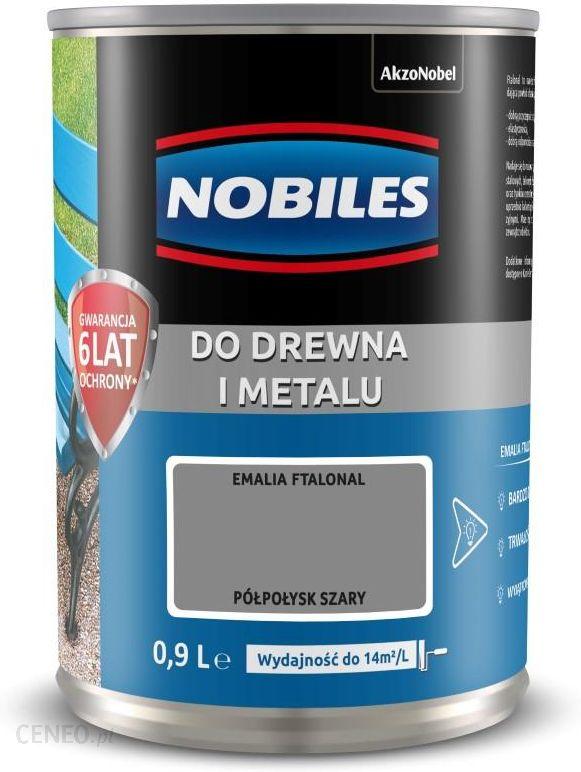 Nobiles Ftalonal alkidinis emalis medienai ir metalui pilka 0,9L