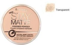 Rimmel London Stay Matte Long Lasting Pressed Powder puder 14 g Odcień 001 Transparent