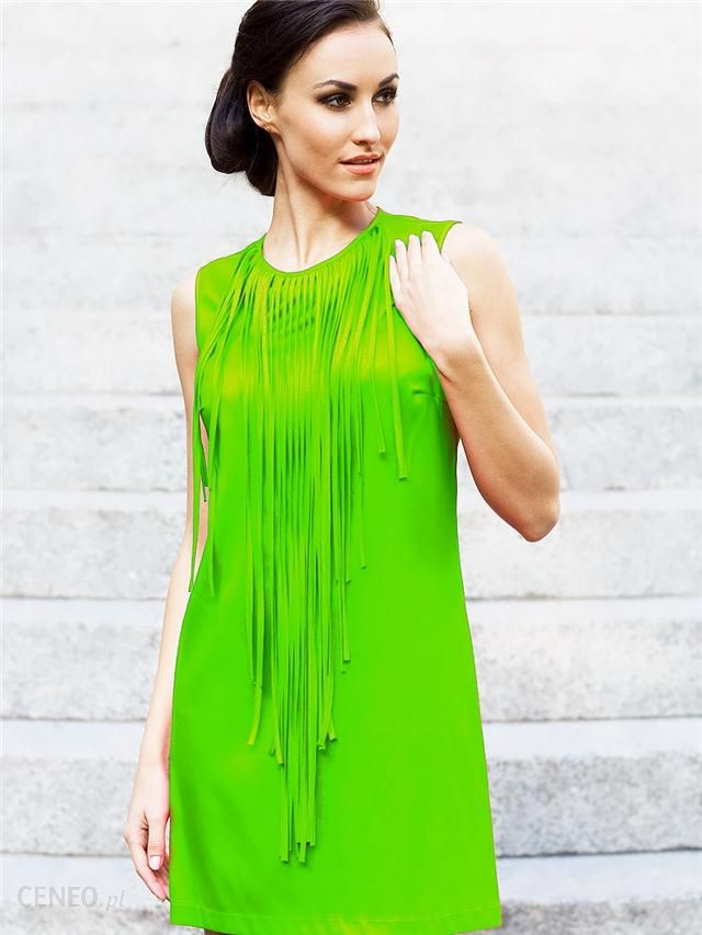 Angelika sukienka Makaron Green Ceny i opinie Ceneo.pl