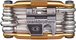 44518f27f62495 Narzędzia rowerowe - opinie. Crankbrothers Narzędziownik Multi Tool 19 Złoty